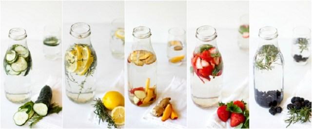 apa infuzata cu legume si fructe