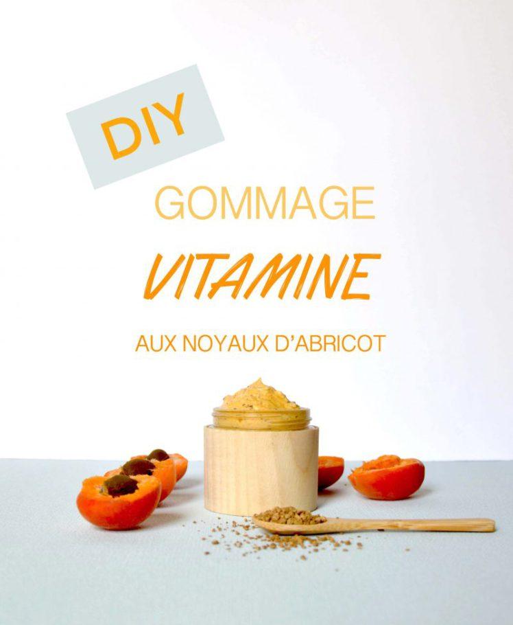 Ceci représente une recette de gommage à base de noyaux d'abricots