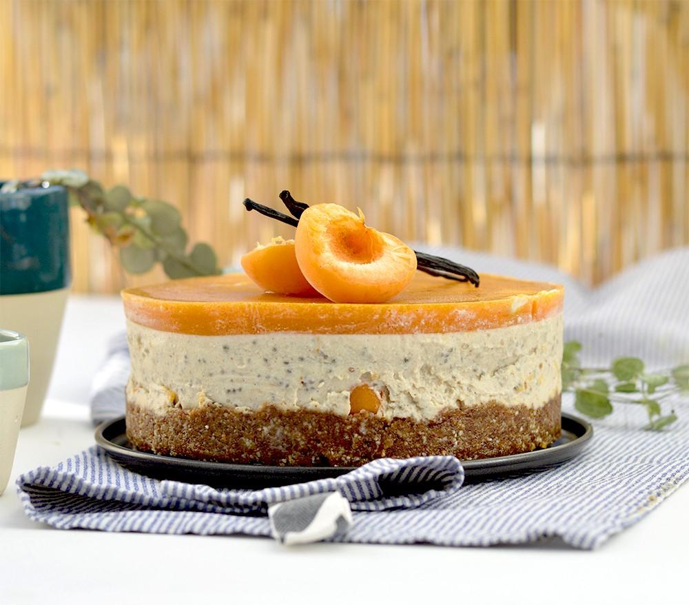 Slikovni rezultat za Cheesecake aux pêches et aux amandes