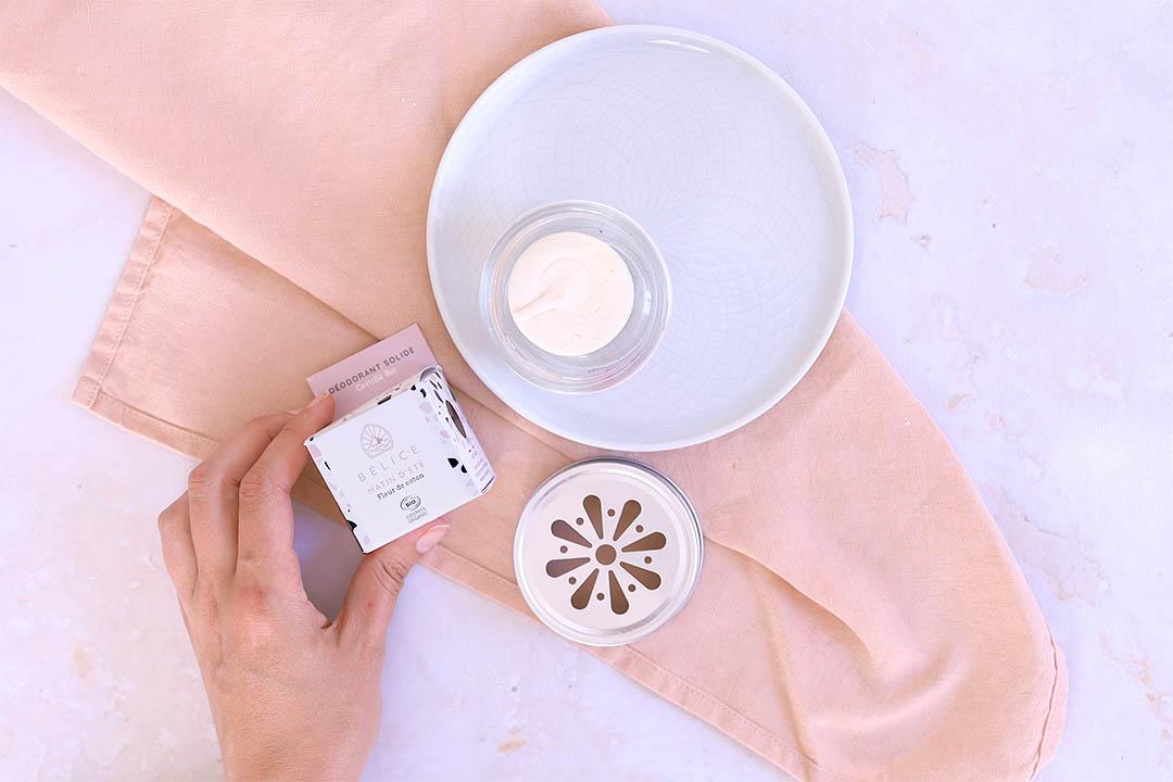 """Cosmétiques solides pour le corps : déodorant solide """"matin d'été"""" de la marque Bélice"""