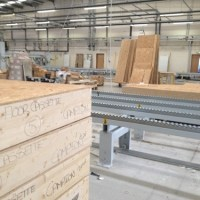 Visiting a timber frame factory
