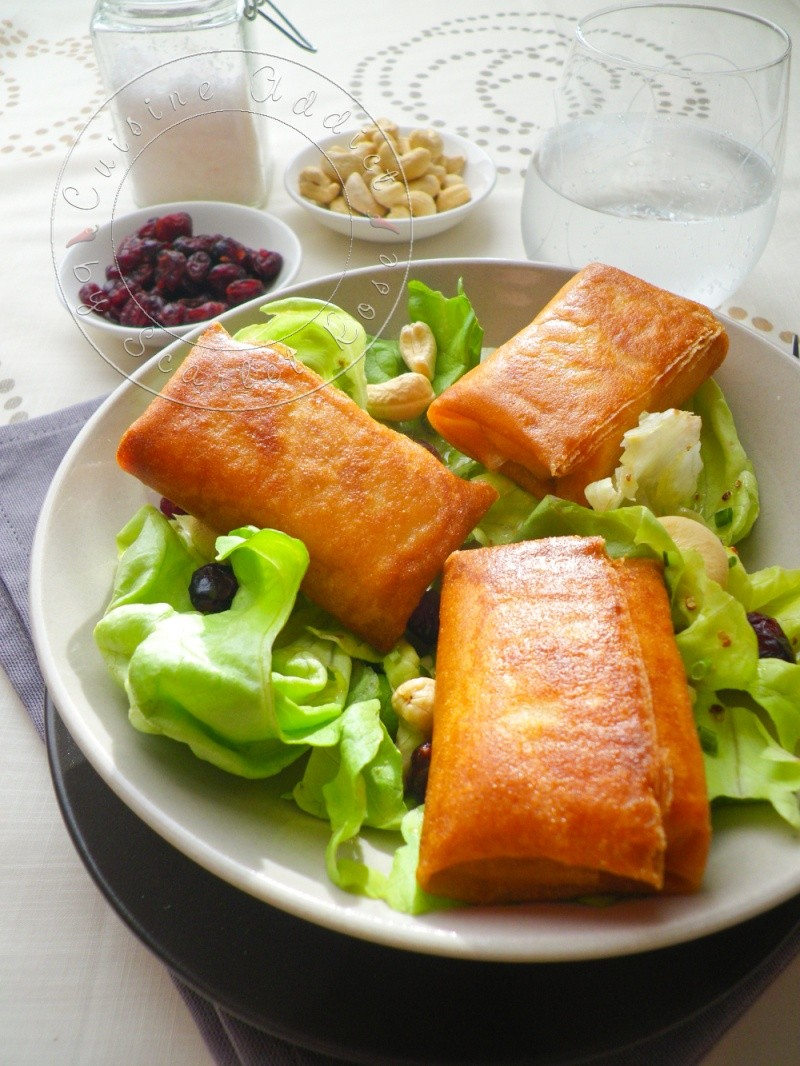 Salade de brie en feuille de brick  Recette de salade facile