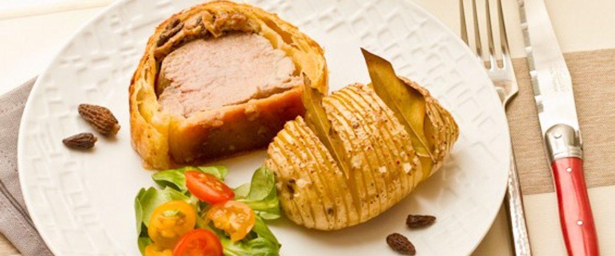 filet mignon en croute au foie gras morilles