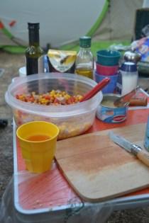 Des salades, et encore des salades en camping
