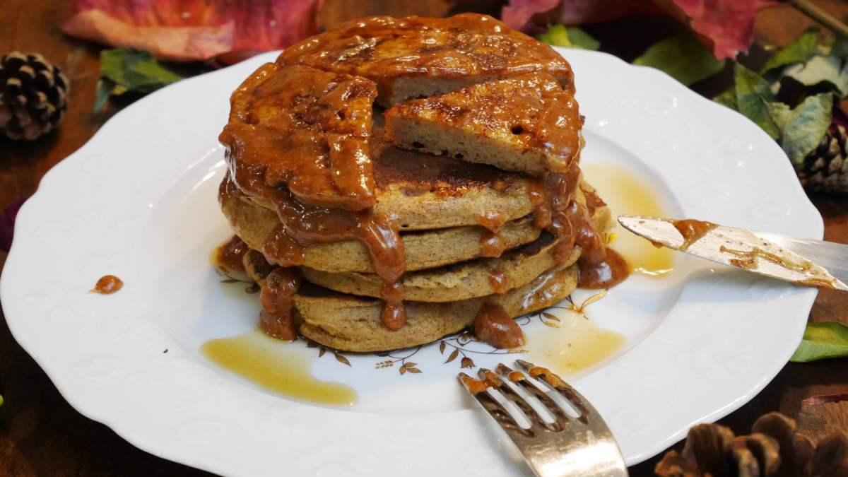 Pancakes healthy du livre de recette de Thibault Geoffray