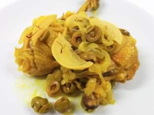 tajine poulet au safran olives vertes et citron confit