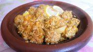 recette marocaine de tajine de boulette de sardine et riz