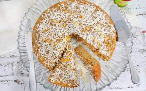 tarte coco et zeste d'orange