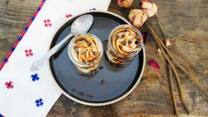 Recette anti gaspillage de verrine crème café et gâteau au chocolat