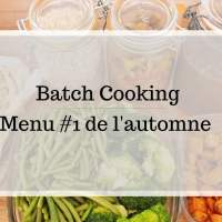 Batch Cooking menu #1 de l'automne