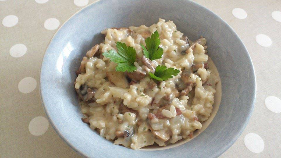 risotto aux champignons et lard fume cookeo