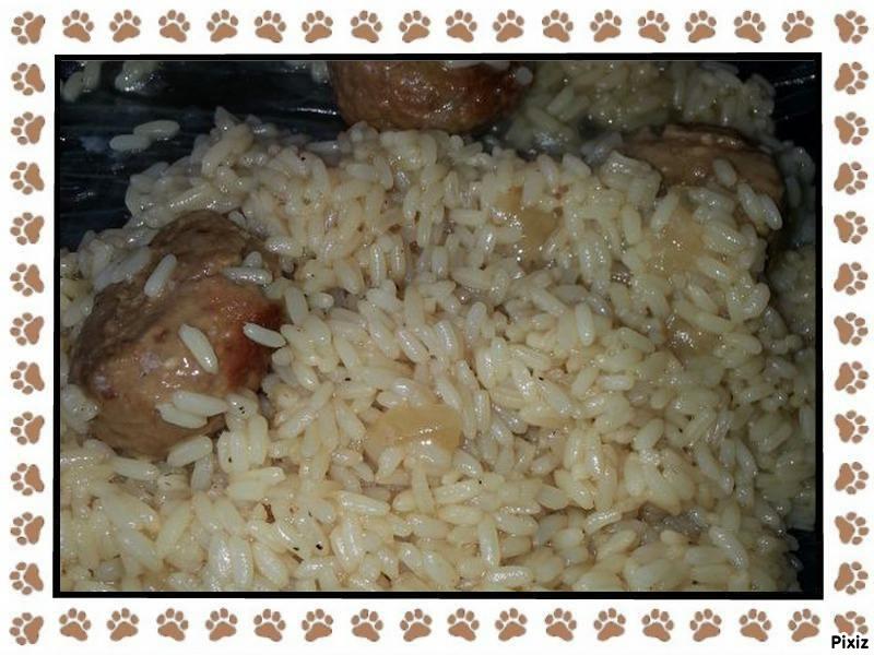 boulettes de viande au riz cookeo