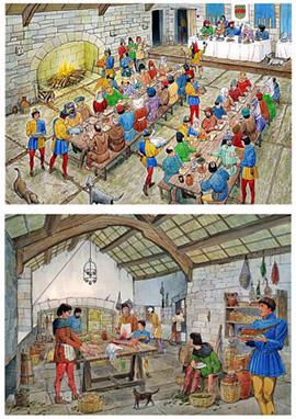 La Nourriture Au Moyen Age : nourriture, moyen, Moyen-Age, Cuisine, Française