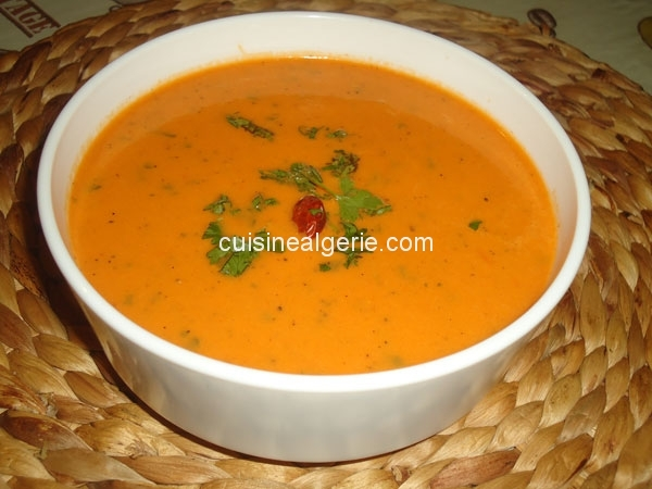 Soupe poivrons rouges-tomates Share Tweet Share Share 2