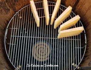 comté fumé dans barbecue weber smokey mountain cooker
