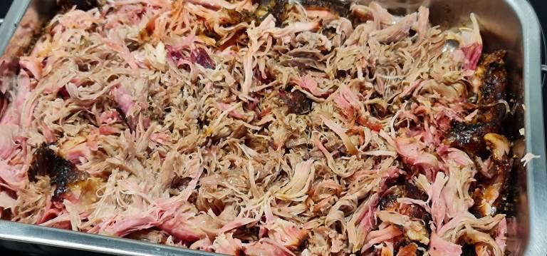 pulled pork effiloché de porc au fumoir
