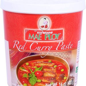 Mae Ploy Red Curry Paste 400g High quality Red Curry Paste for your favourite Thai recipes. Buy this item as part of our Thai Box or BYOB (Build your own box).