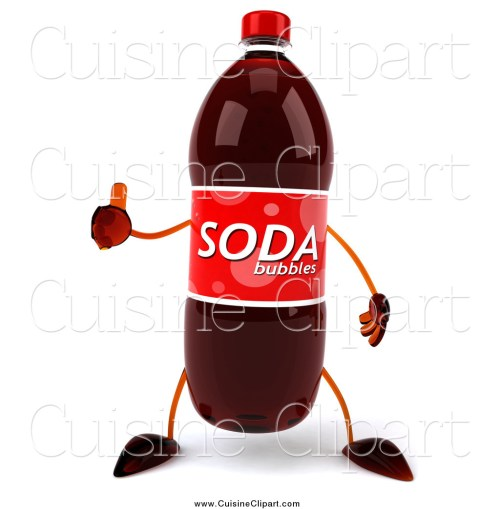 small resolution of cuisine clipart of a 3d soda bottle character giving a thumb up