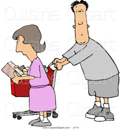 cuisine clipart of a husband and wife going grocery shopping together [ 1024 x 1044 Pixel ]