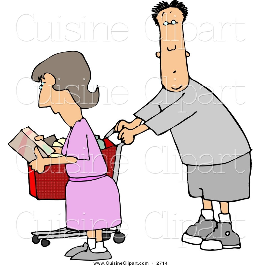 medium resolution of cuisine clipart of a husband and wife going grocery shopping together