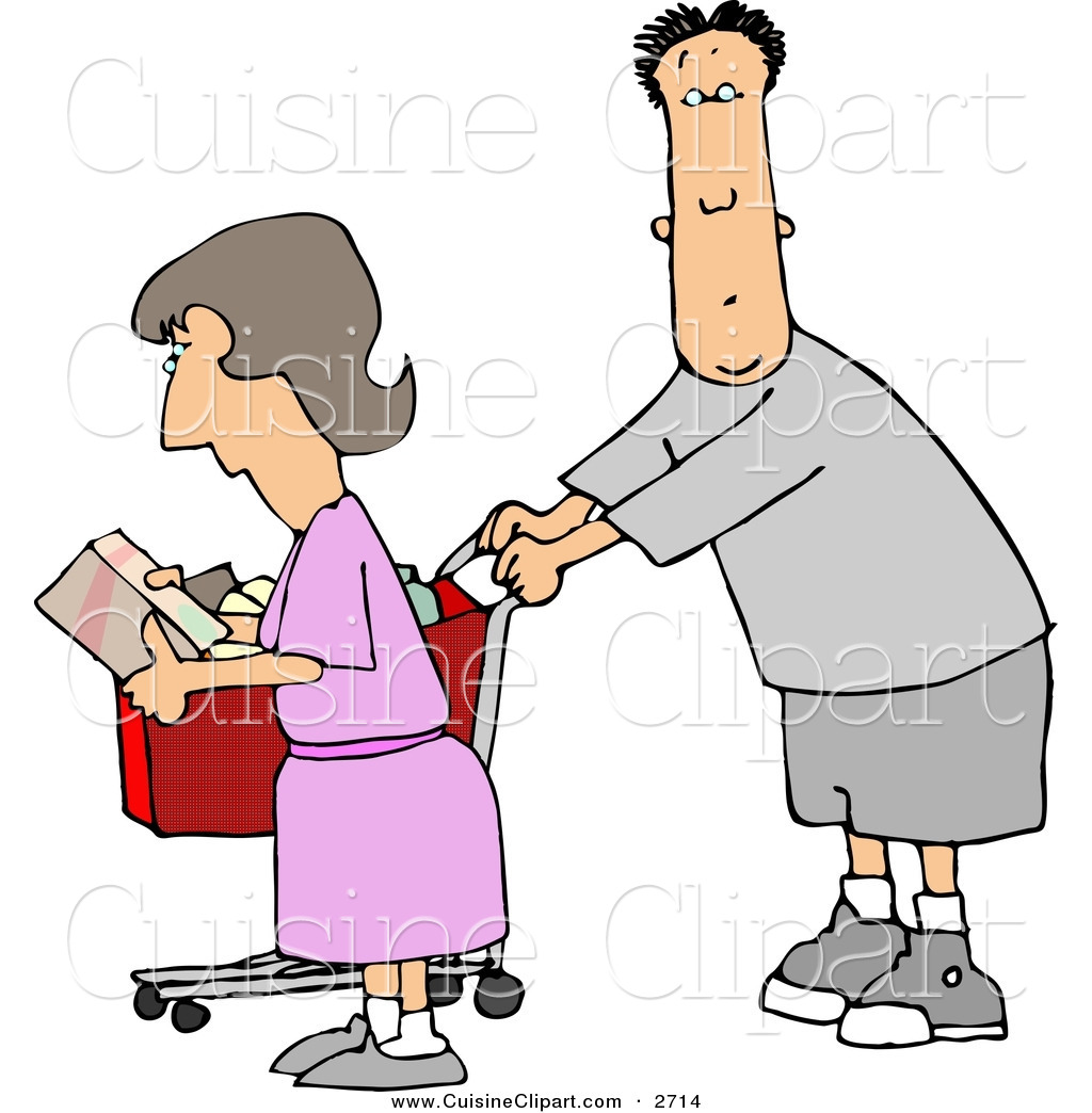 hight resolution of cuisine clipart of a husband and wife going grocery shopping together