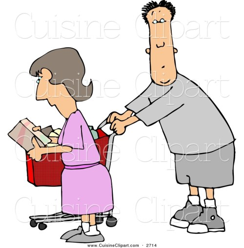 small resolution of cuisine clipart of a husband and wife going grocery shopping together