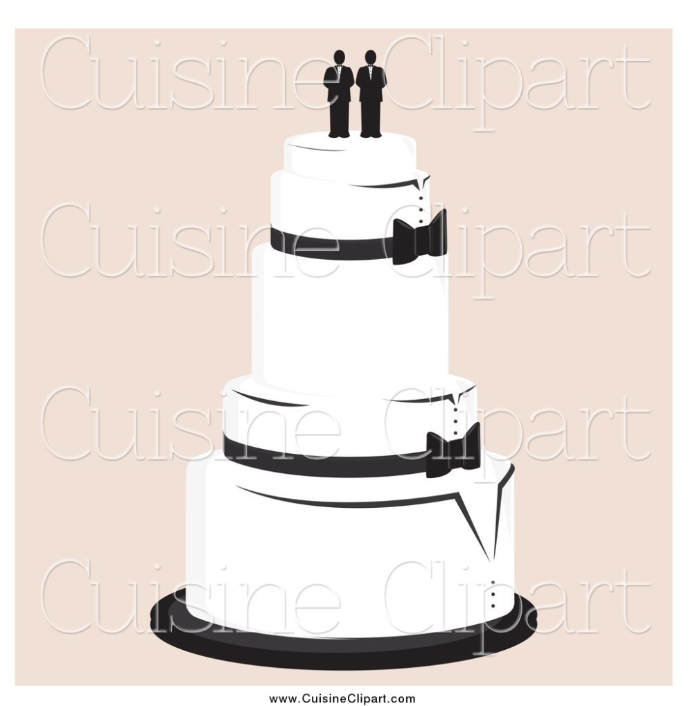 medium resolution of cuisine clipart of a wedding cake with a gay topper