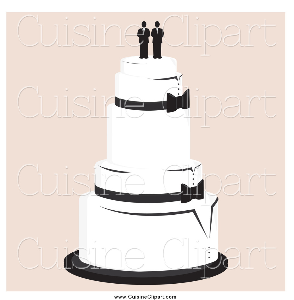 hight resolution of cuisine clipart of a wedding cake with a gay topper