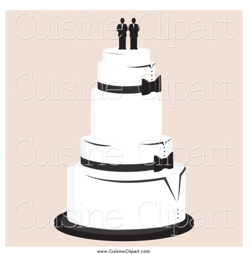 small resolution of cuisine clipart of a wedding cake with a gay topper