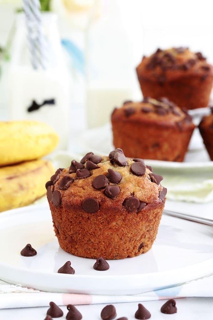 Dessert Bananes Trop Mures : dessert, bananes, mures, Muffins, Banane, Pépites, Chocolat, Hyper, Moelleux, (base, Banana, Bread), Cuisine, Culinaire