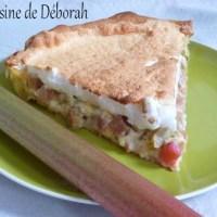 Tarte à la rhubarbe meringuée Alsacienne