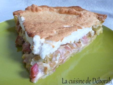 Tarte à la rhubarbe meringuée Alsacienne   Cuisine de Deborah