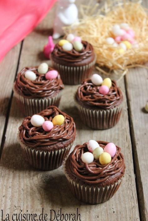 Cupcakes nids de Pâques tout choco! Cuisine de Deborah