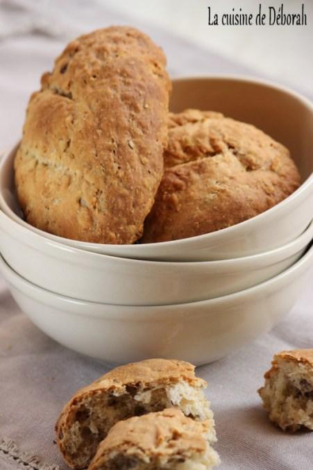 Petits pains au muesli - Cuisine de Déborah