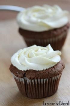 Cupcakes chocolat ganache montée vanille   Cuisine de Deborah