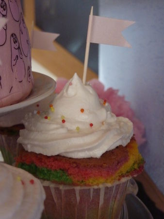 Rainbow cupcakes - Cuisine de Deborah