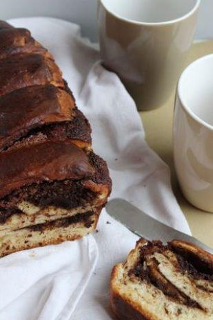 Brioche à la crème d'amandes au chocolat - cuisine de Deborah
