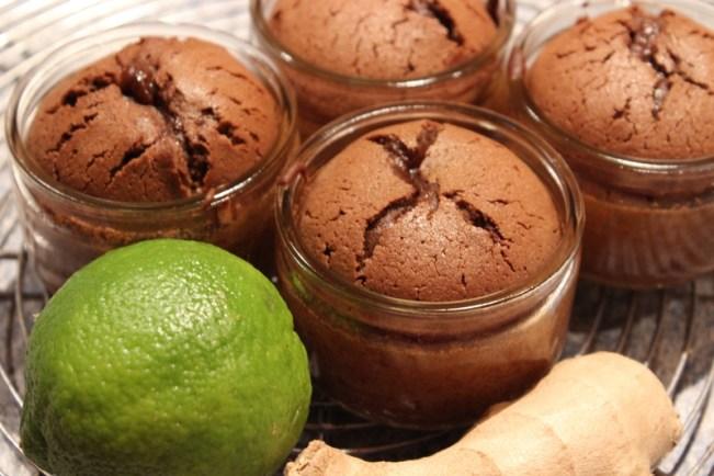 Coulants au chocolat, citron vert et gingembre - Cuisine de Deborah