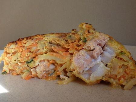 Gâteau de légumes au poisson - Cuisine de Deborah