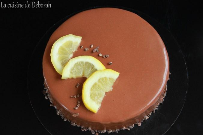 Entremets citron-chocolat  La cuisine de Deborah