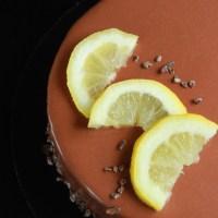 Entremets citron-chocolat
