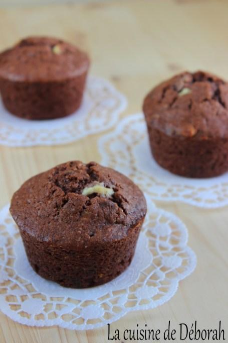 Muffins aux pépites de chocolat noir et blanc    La cuisine de Déborah