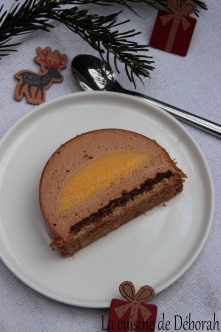 Bûche mandarine-caramélia La cuisine de Deborah