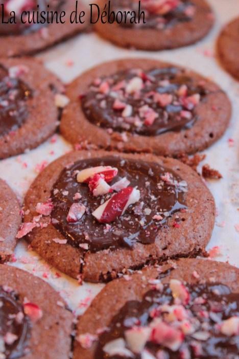 Biscuits chocolat et sucre d'orge   Cuisine de Deborah