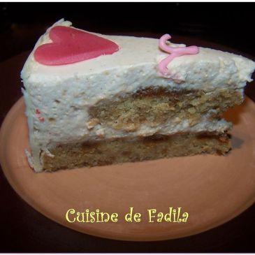 Gâteau d'Amour à la vanille et spéculos