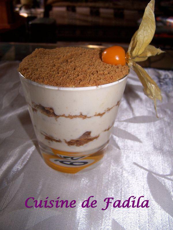 Tiramisu aux spéculos et fleur d'oranger