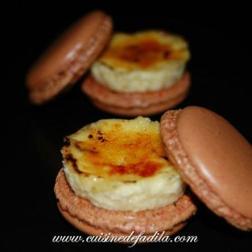 Macarons à la crème brûlée