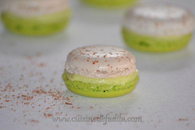 Macarons Citron Vert Piment D Espelette Et Gelee De Framboise