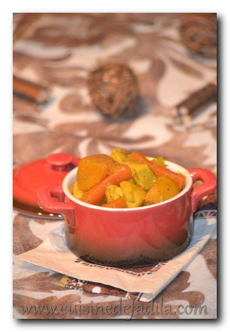 """Cocotte de poulet aux légumes façon tajine et concours """"Je, tu, il, elle, nous cuisinons les plats en cocotte"""""""