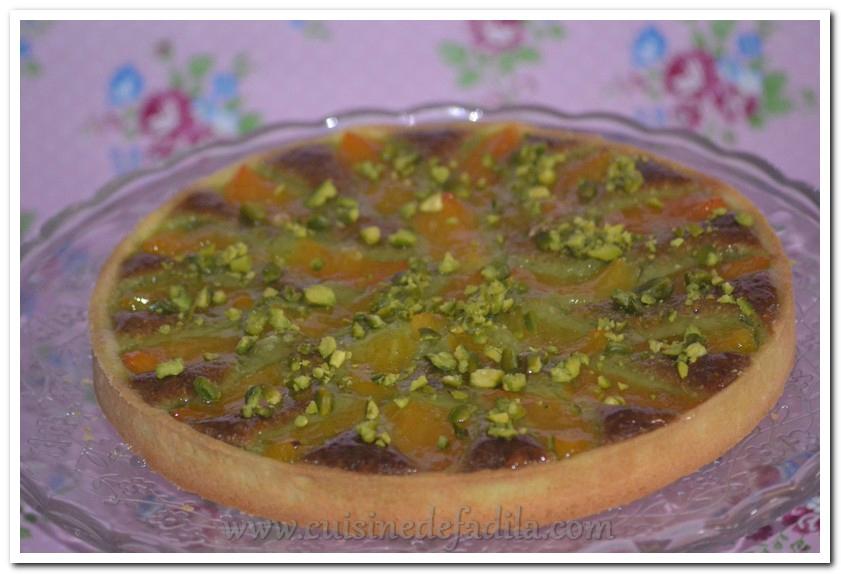 Tarte amande pistache et abricot ( recette CAP pâtissier )